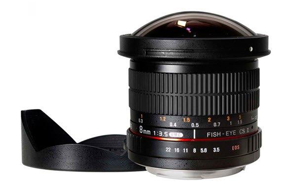 SAMYANG 8 mm f/3,5 UMC Fish-eye CS II pro Canon (APS-C)