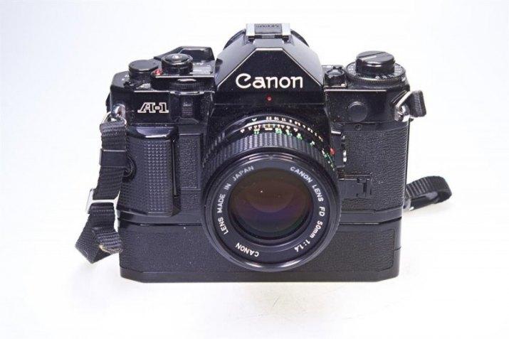 Canon A-1, Canon FDn 50/1.4, Canon Power Winder A