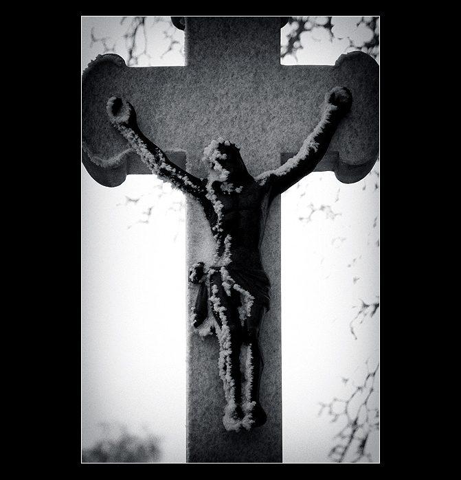 zasněžený Kristus