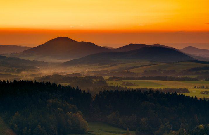 Lašsko po západu slunce