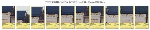Test šumu a recenze Canon EOS 7D mark II